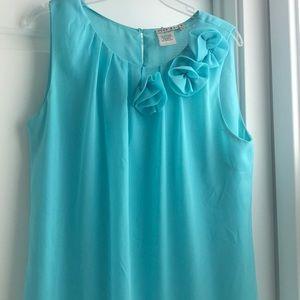 EUC Beautiful baby blue sleeveless blouse